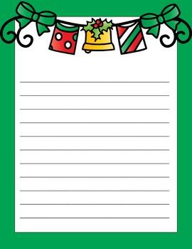 Christmas/Holiday Writing Paper