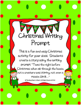 Christmas Holiday Writing Prompt