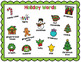 Christmas Holiday Writing Vocabulary Picture Cards