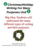 Christmas Holiday Writing Workshop Unit