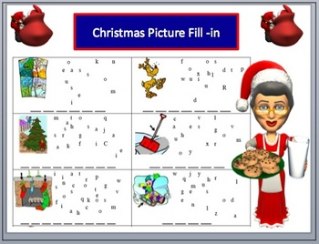 Christmas Holiday puzzles packet with Keys
