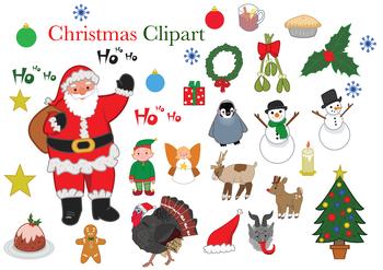 Christmas Holiday Clipart.Christmas Holiday Themed Clip Art
