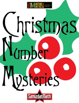 Christmas/HolidayThemed Math Mystery Puzzle Booklets - 9 different