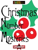 Christmas/HolidayThemed Math Mystery Puzzle Booklets - 9 d