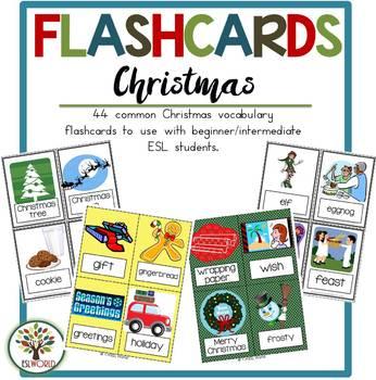 Christmas & Holidays {44 Flashcards & Games} ESL Adults &