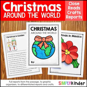 Christmas Around the World Kindergarten Research Bundle