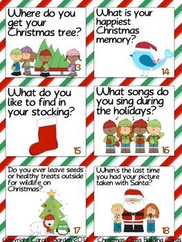 Christmas Holidays Class-Building Cards