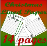 Christmas Holidays : Journal Writing 14pgs LINED Handwriting PAPER without tears
