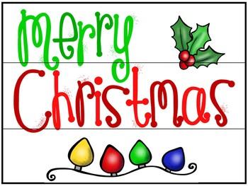 Christmas/Holidays Light Box Slides