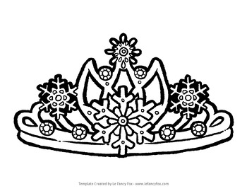 Christmas Party Crowns- 5 Original Crowns to Cut-Out and Color!