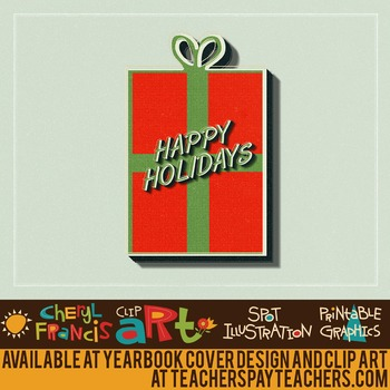 22 pc Christmas Holidays Vintage Style Clip Art and Backgrounds