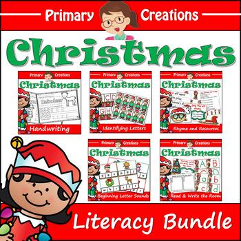 Christmas Preschool and Prekinder Literacy Activities