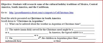 Culture Research: Christmas Holidays in the Spanish-Speaking World