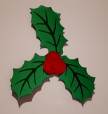 Christmas Holly Decoration for Classroom