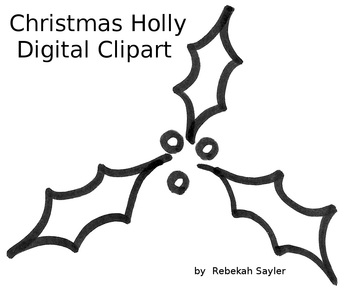 Christmas Holly Digital Clip Art