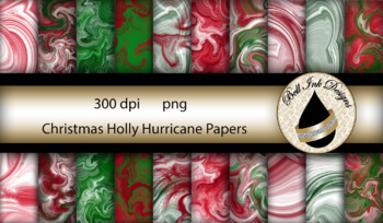 Christmas Holly Hurricane Papers Clipart