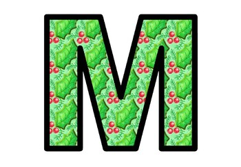 Christmas, Holly Leaves, Bulletin Board Letters, Classroom Decor