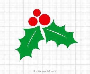 Christmas Holly Svg, Holly Svg, Mistletoe Svg, Winter Svg, Christmas SVG
