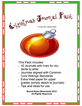 Christmas Homework Journal Pack