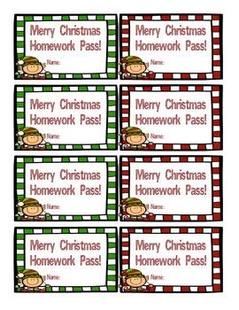 homework pass teachers pay teachers