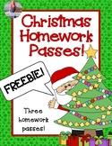 Christmas Homework Pass *FREEBIE*