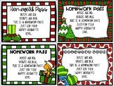 Christmas Homework Passes Holiday