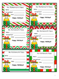 Christmas Homework Passes - Smiles