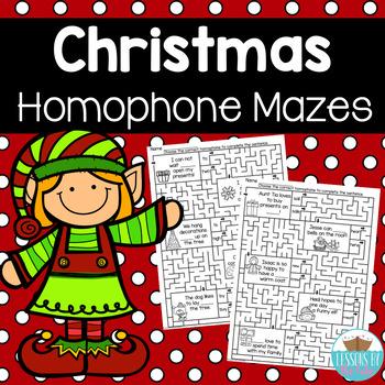 Christmas Homophone Mazes