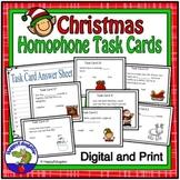 Christmas Homophones Task Cards