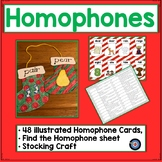 Christmas Homophones Task Cards and Craft