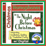 Christmas Homophones Search - The Night Before Christmas Distance Learning