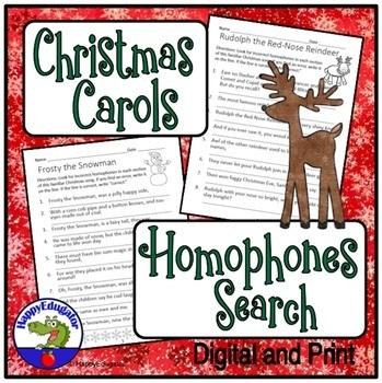 Christmas Homophones Search