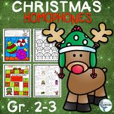 Christmas Homophones Worksheets/ Task Cards/ Game / Bonus Page