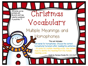FREEBIE! Multiple Meaning Words ~ Language by Elementary Island | TpT