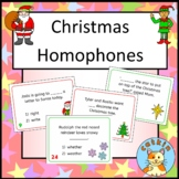 Christmas Homophones - fun taskcard activity - Scoot