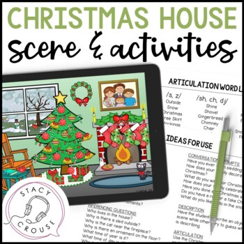 Christmas House Scene and Activities