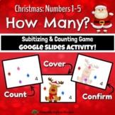 Christmas How Many? 1-5 Subitizing, Number Sense & Counting Smartboard Game