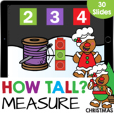 Christmas How Tall? Measurement with Cubes Math Google Sli