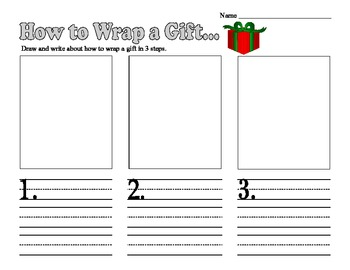 Christmas How to Wrap a Gift Writing Prompt Common Core Aligned