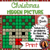 Christmas Hundred Chart Hidden Picture