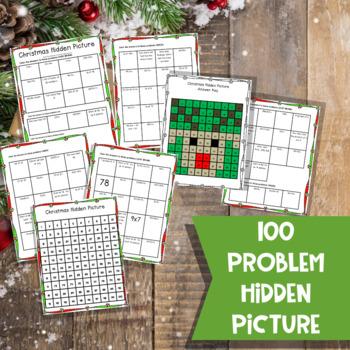 Christmas Hundred Chart Hidden Picture