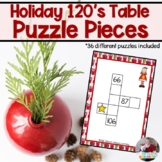 Christmas- One Hundred Twenty Board Puzzle Pieces