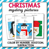 Christmas Addition and Subtraction - Christmas Math Myster