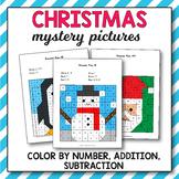 Christmas Addition and Subtraction - Christmas Math Myster