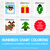 Christmas Hundreds Chart Coloring Pages