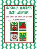 Christmas Hundreds Chart Hidden Picture Activities for Math Santa Hat Reindeer