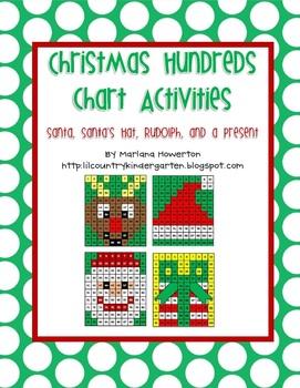 Christmas Hundreds Chart Hidden Picture Activities for Mat
