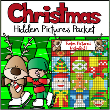 christmas hundreds chart hidden picture packet