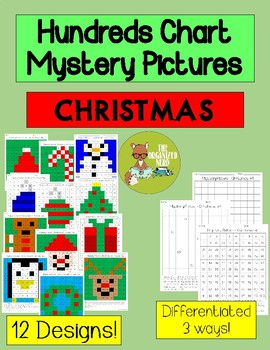 Christmas - Hundreds Chart Mystery Pictures