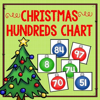 Christmas Hundreds Chart Number Cards